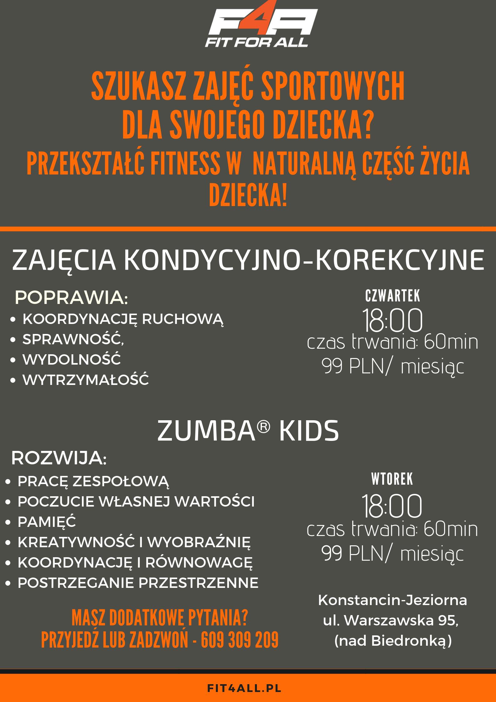 plakat zajecia dla dzieci
